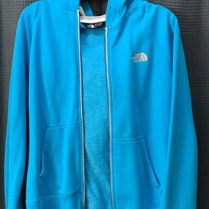Blue hoodie! The North Face!